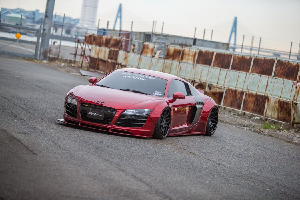 Liberty Walk Audi R8 cars bodykit modified wallpaper