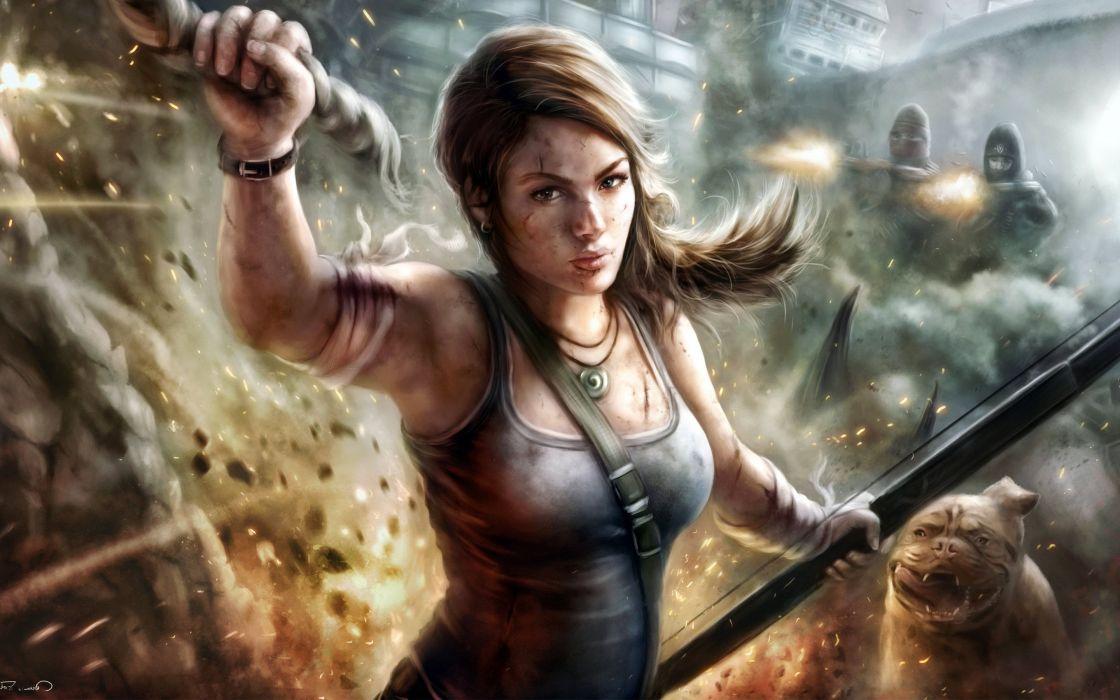 video juego lara croft tom raider aventuras accion wallpaper
