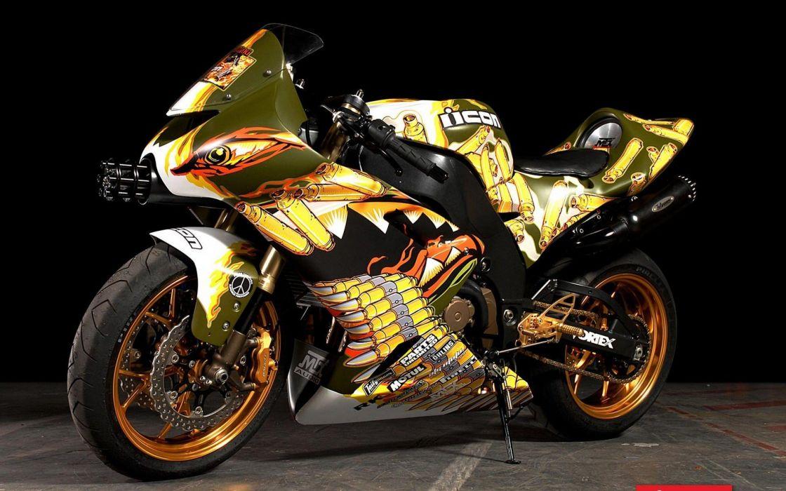 moto japonesa kawasaki dorada wallpaper
