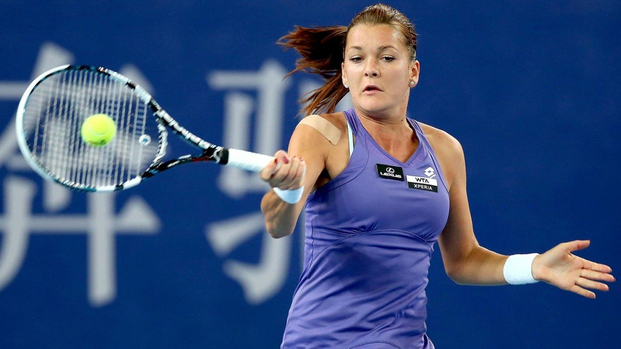tenista polonia Agnieszka RadwaAIska mujer deportes wallpaper