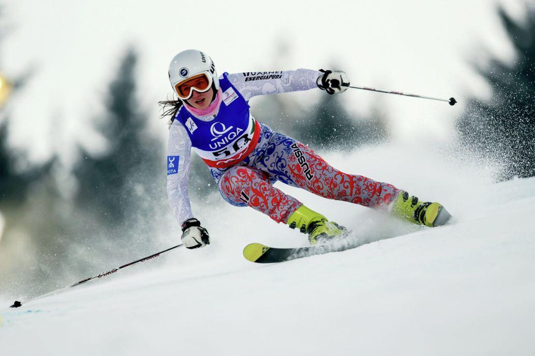 sky deportes nieve slalon wallpaper