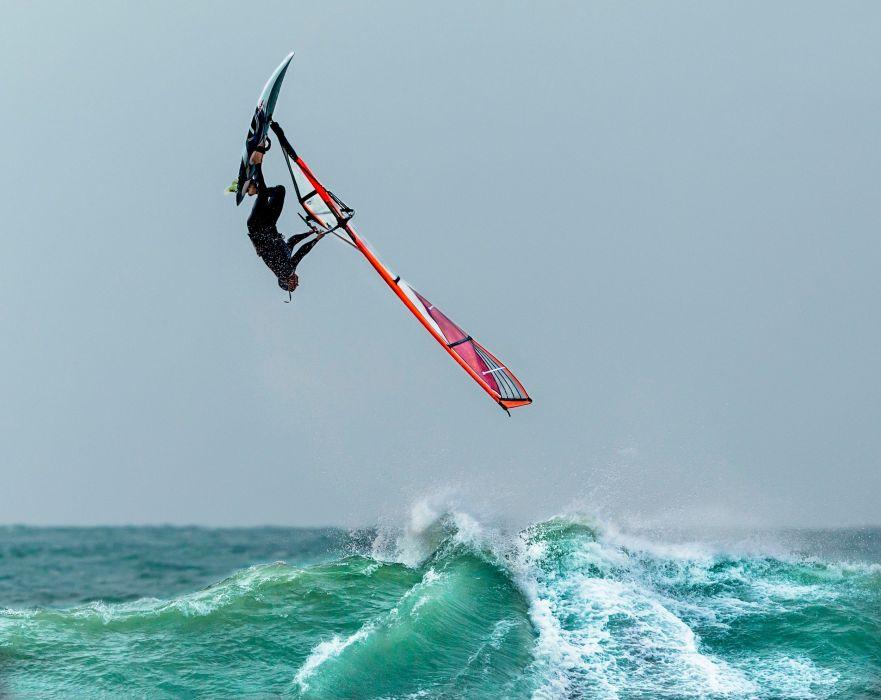 surfing olas mar salto deporte riesgo wallpaper