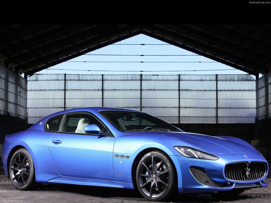 2013 Maserati Gran Turismo Sport cars blue wallpaper