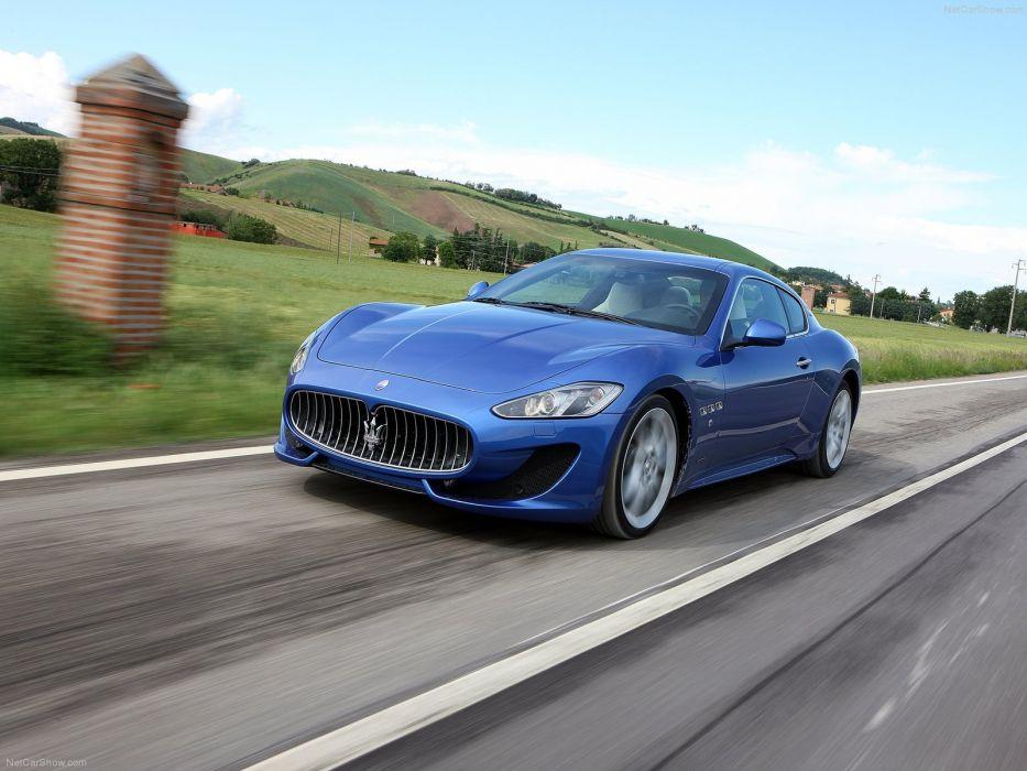 2013 Maserati Gran Turismo Sport cars blue wallpaper