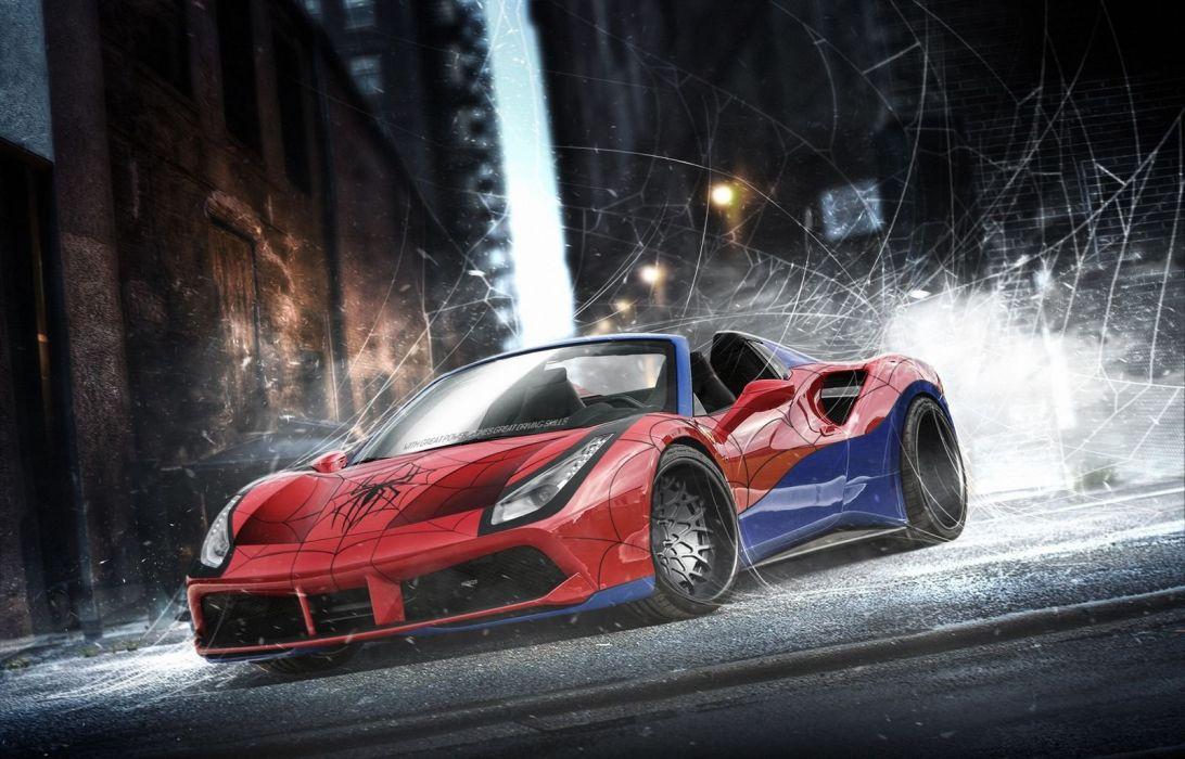 Marvel DC comics Superheroes cars wallpaper