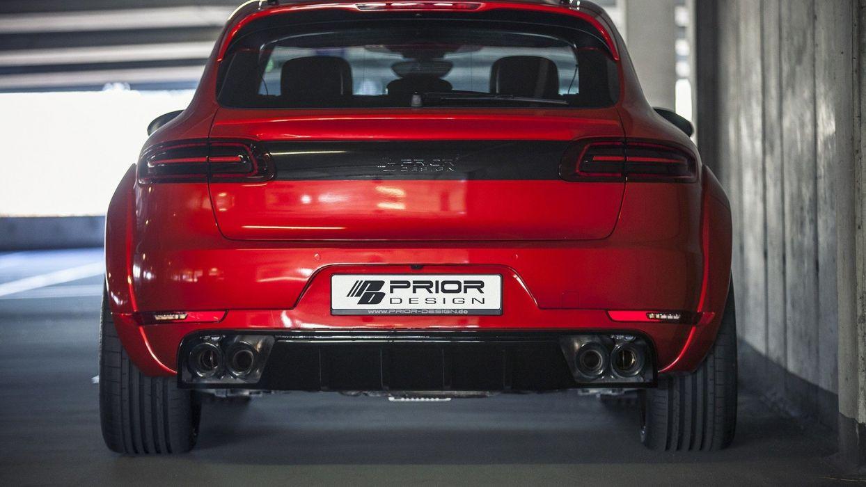 Porsche Macan Prior Design cars red modified suv wallpaper