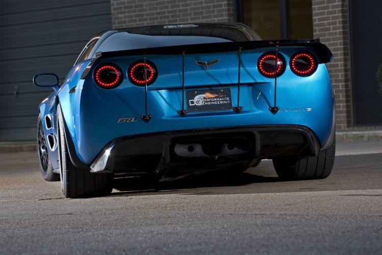 2009 Chevrolet Corvette ZR1 cars blue modified wallpaper