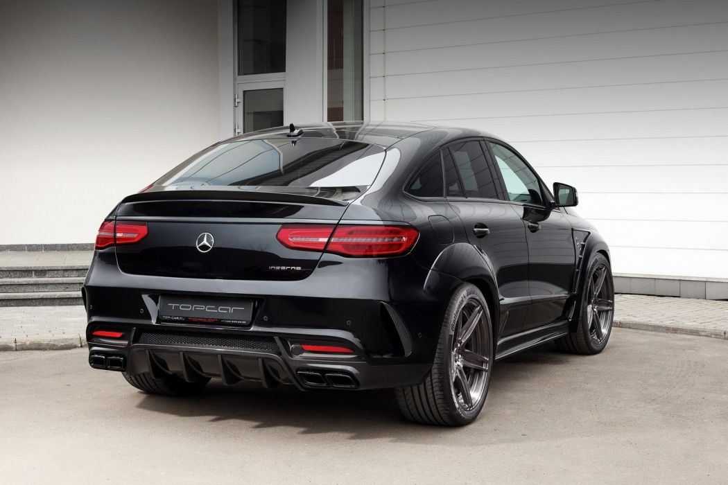 TopCar Inferno Mercedes Benz GLE Coupe cars suv black modified wallpaper