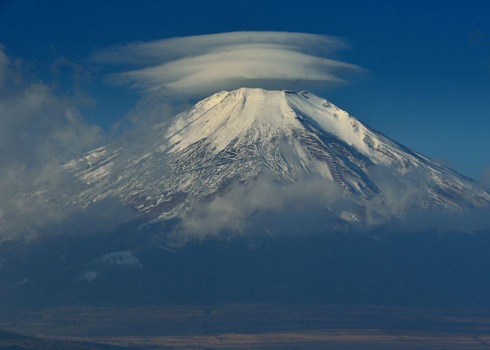 Japan Mount Fuji sky clouds wallpaper