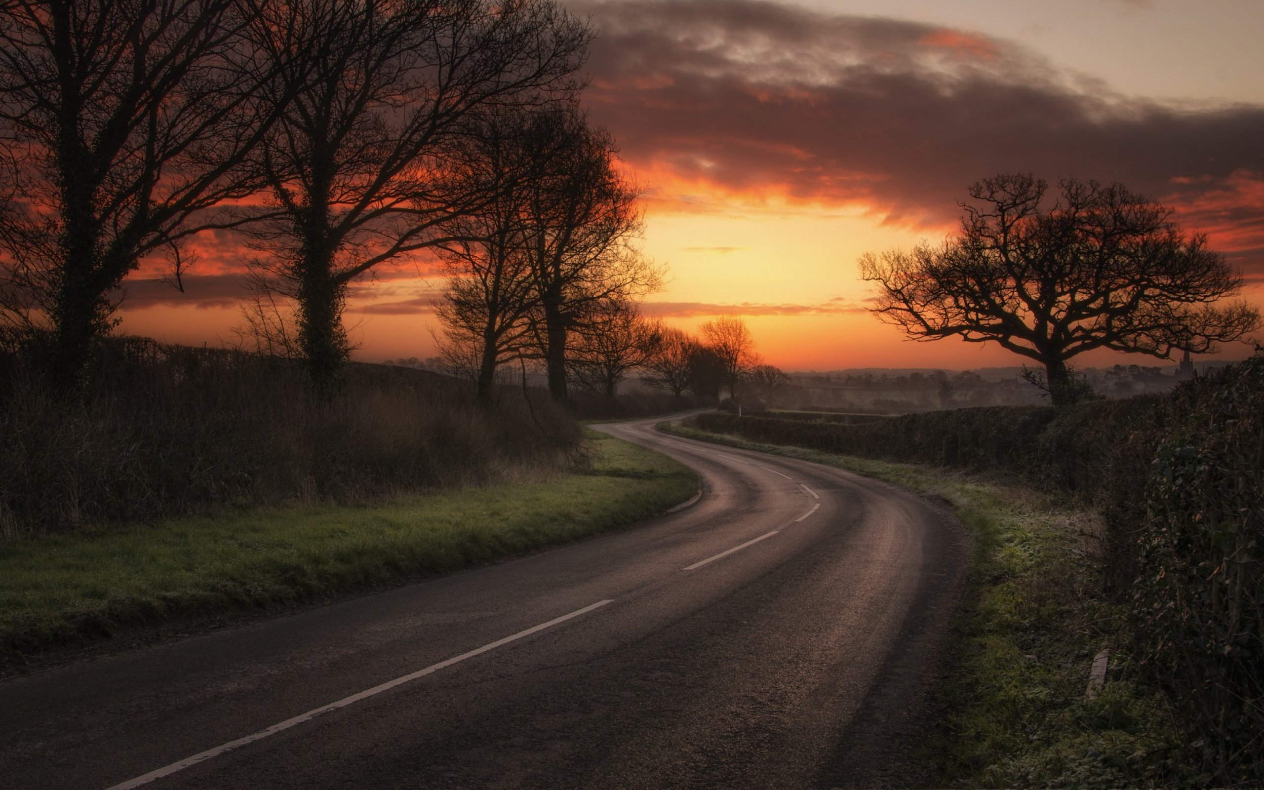 Road Sunset Wallpaper