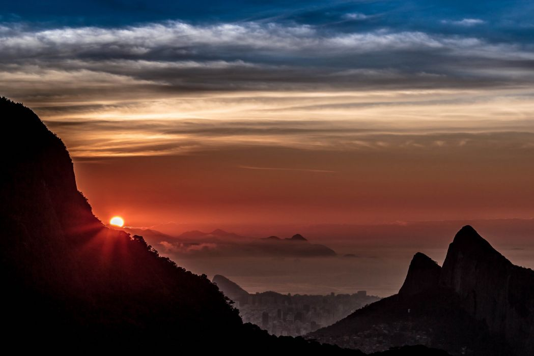 Rio de Janeiro Rio de Janeiro sky clouds city sun wallpaper