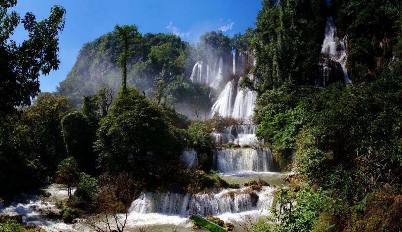 Thailand Thi Lo Su Waterfall Waterfall Ti Lo Su Thailand cascade trees wallpaper
