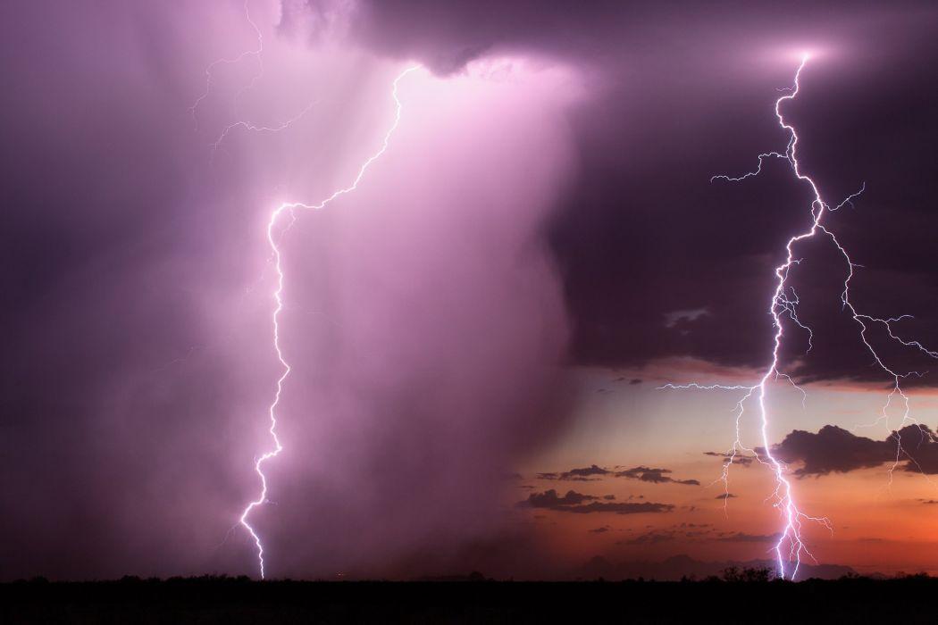 lightning storm sky clouds element wallpaper