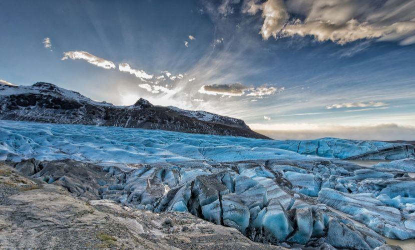 nature ice rocks ice winter wallpaper