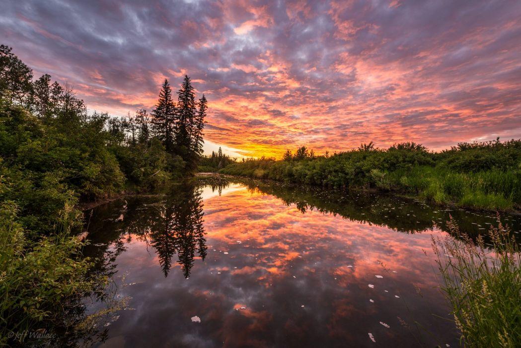sunset reflection wallpaper