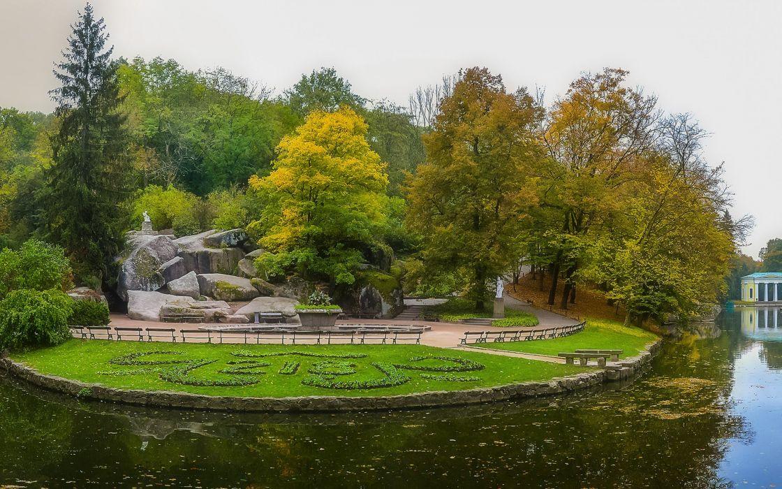 Ukraine Cherkasy region Uman Sophia Park wallpaper