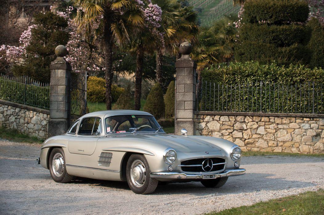 Mercedes Benz 300 SL (W198) cars classic 1955 wallpaper