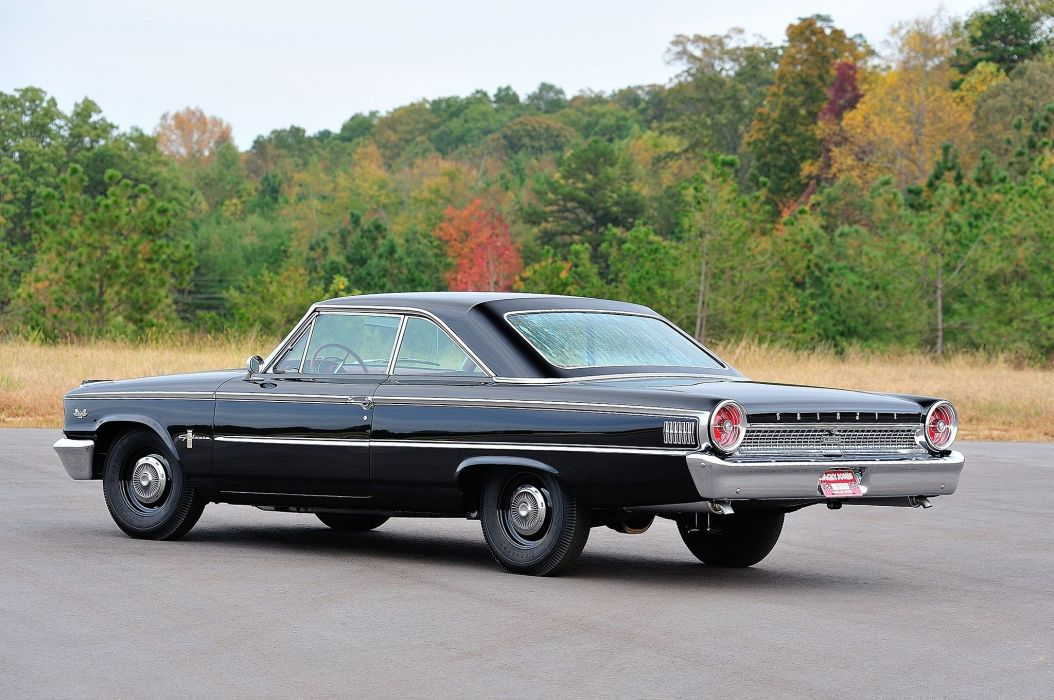 1963 500 Ford Galaxie cars coupe classic black wallpaper