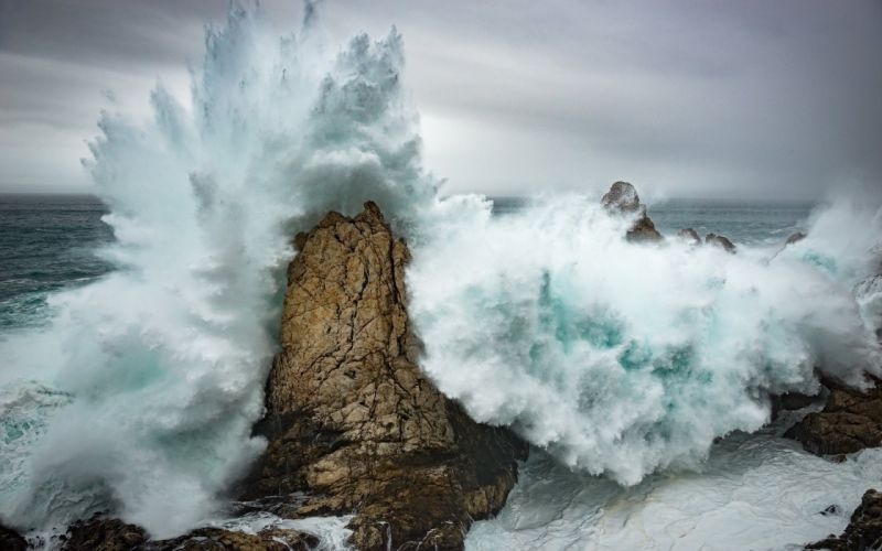 sea rock waves wave wallpaper