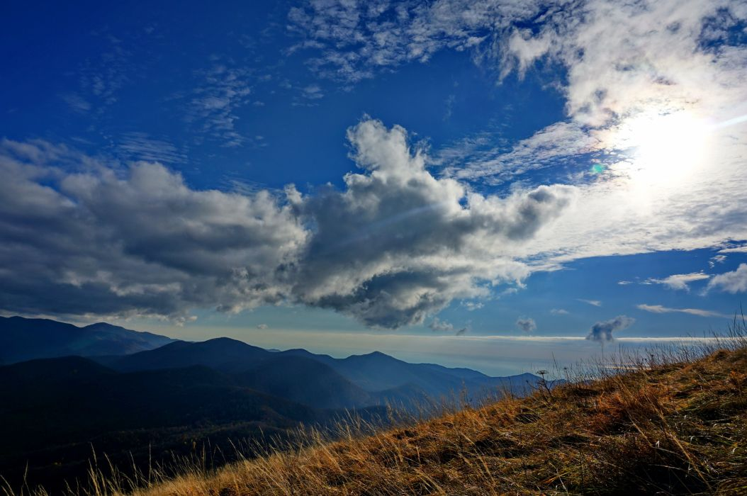 mountain top cloud clouds panorama fall sky MCC wallpaper