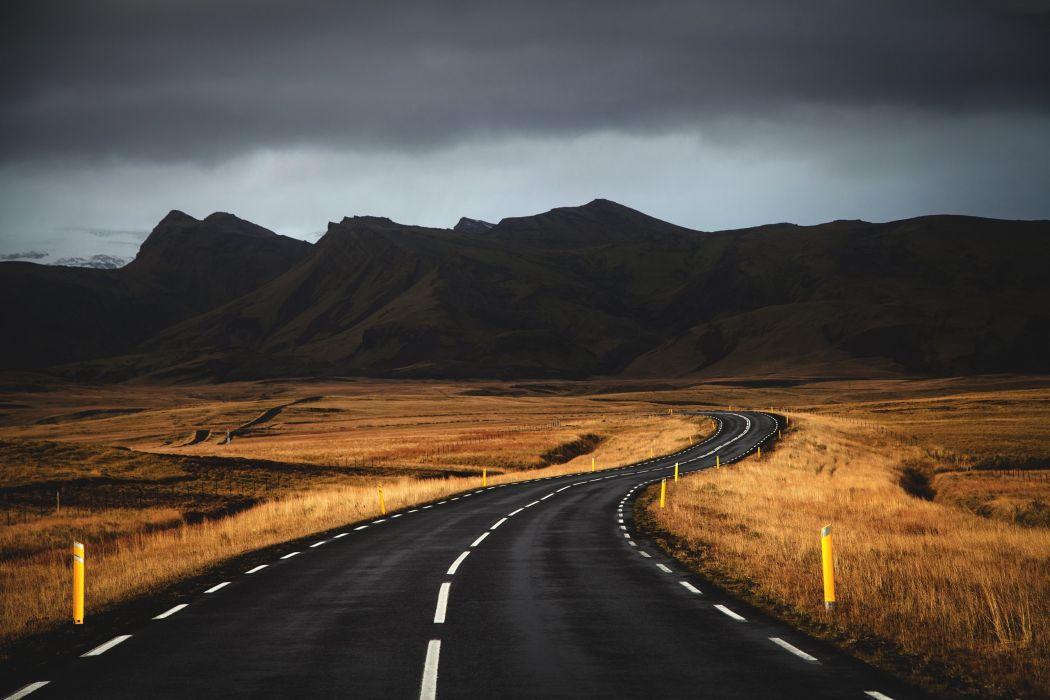 Roads Mountains Nature wallpaper