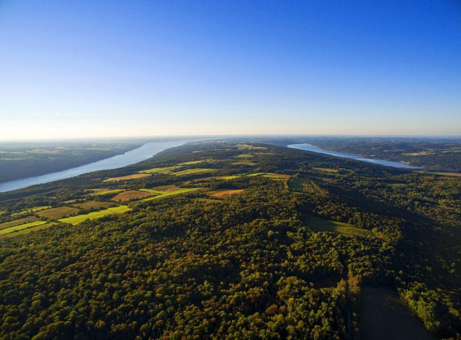 USA Scenery Lake Forests Skaneateles and Otisco Lakes Nature wallpaper