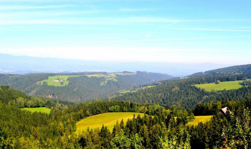Scenery Austria Forests Grasslands Sky Nature wallpaper