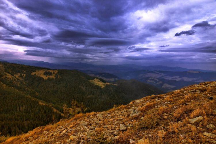 Ukraine Scenery Mountains Forests Vorokhta Ivano-Frankivsk Nature wallpaper