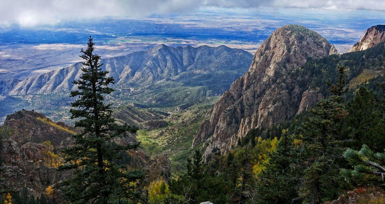 USA Scenery Mountains Fir Bernalillo New Mexico Nature wallpaper