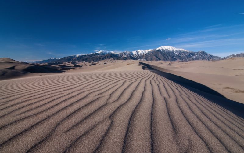 Desert Mountains Sky Nature wallpaper
