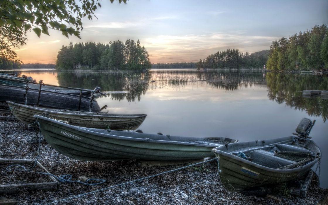 Boats Lake Nature wallpaper