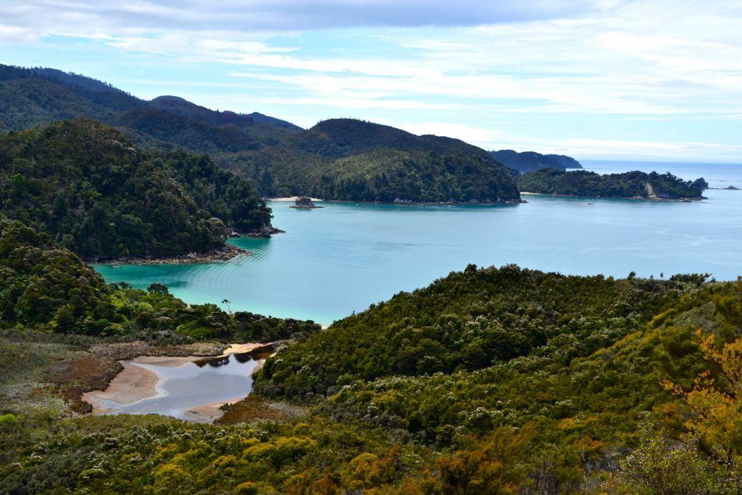 Australia Parks Coast Mountains Forests Tasman National Park Nature wallpaper