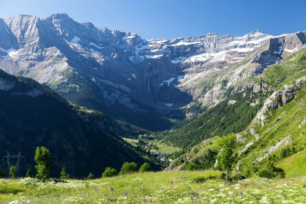 France Scenery Mountains Grass Gavarnie Midi-Pyrenees Nature wallpaper