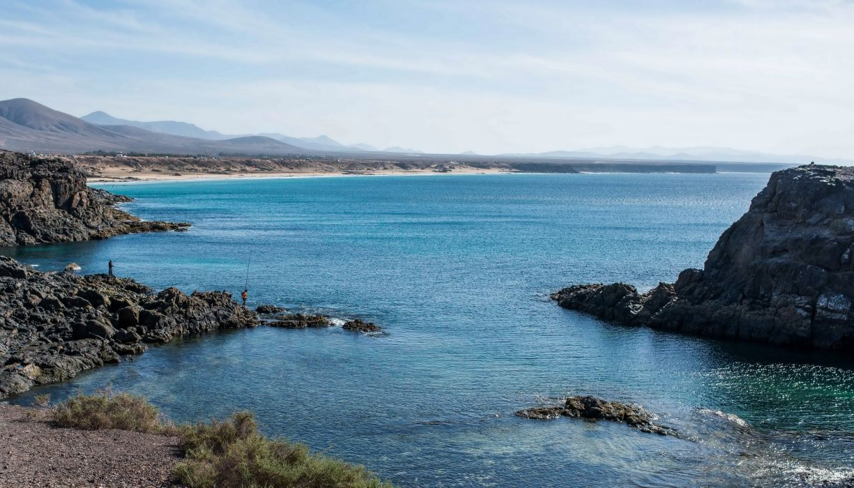 Spain Sea Coast Canary Islands El Cotillo Nature wallpaper