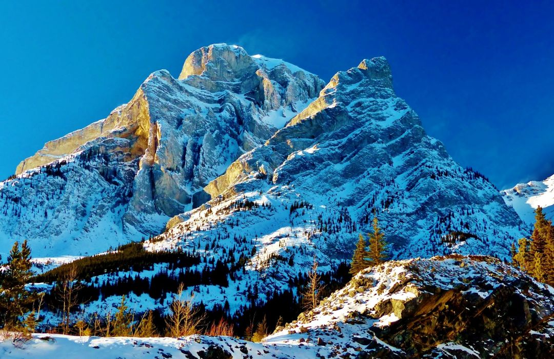 Mountains Canada Snow Kananaskis Country Nature wallpaper