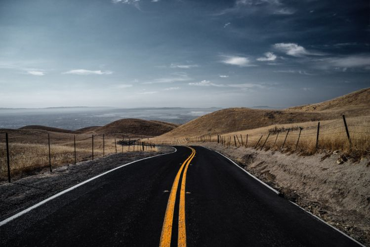Roads Sky Nature wallpaper