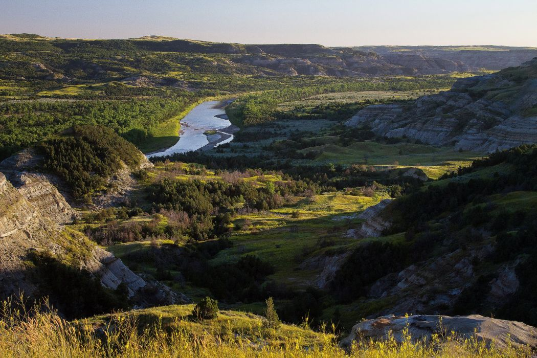 USA Parks Scenery Rivers Grasslands Forests Theodore Roosevelt National Park Nature wallpaper