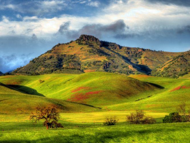 USA Scenery Mountains Grasslands California Santa Ana Valley Nature wallpaper