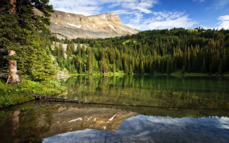 Canada Lake Forests Mountains Scenery Nature wallpaper