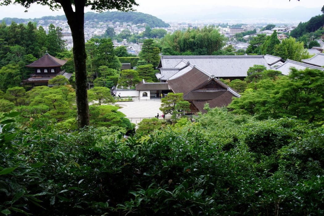 Japan Houses Trees Kyoto Nature wallpaper