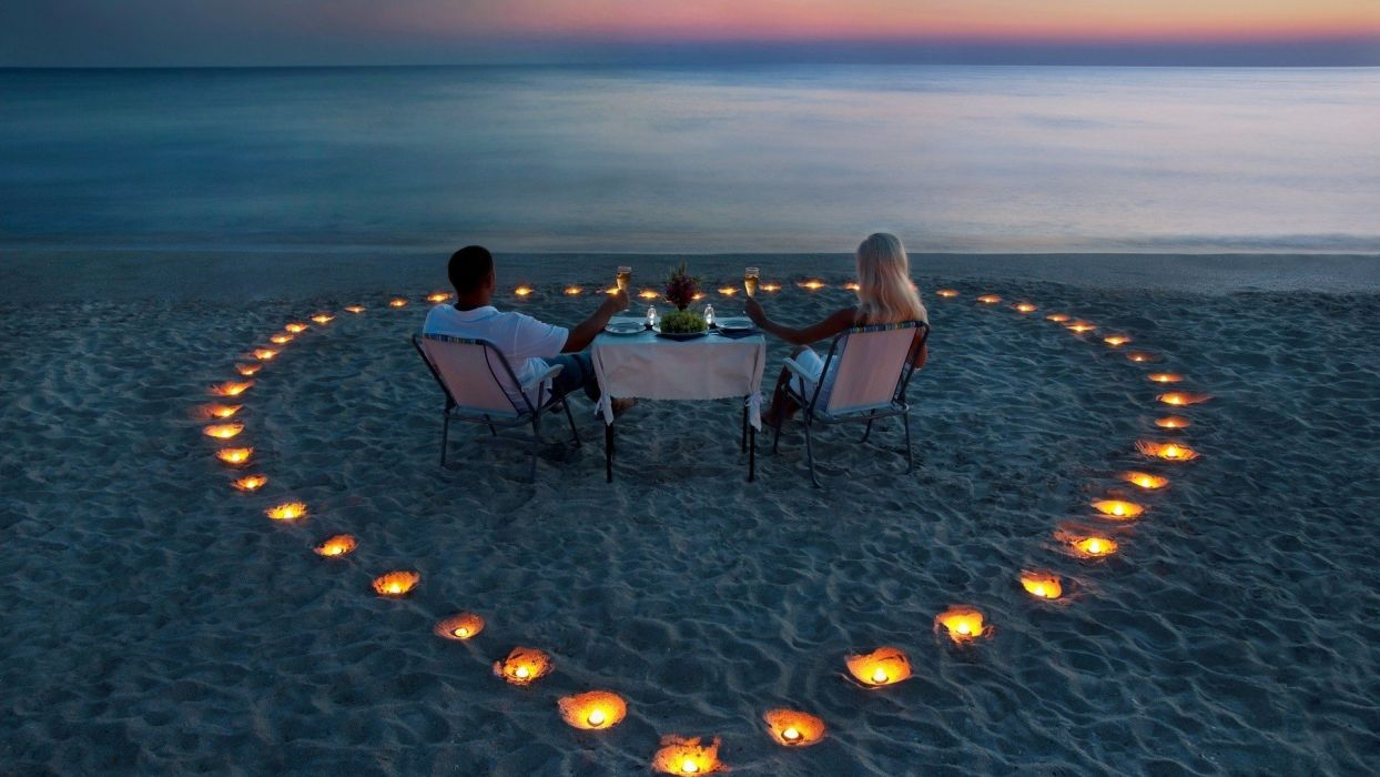 corazon playa mujer hombre amor wallpaper