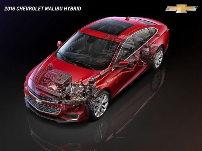 2016 Chevrolet Malibu Hybrid cars cutaway wallpaper