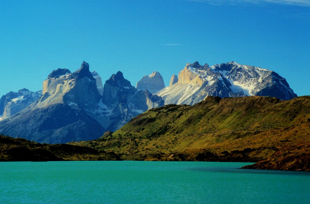 Chile Parks Mountains Lake Torres del Paine national park Nature wallpaper