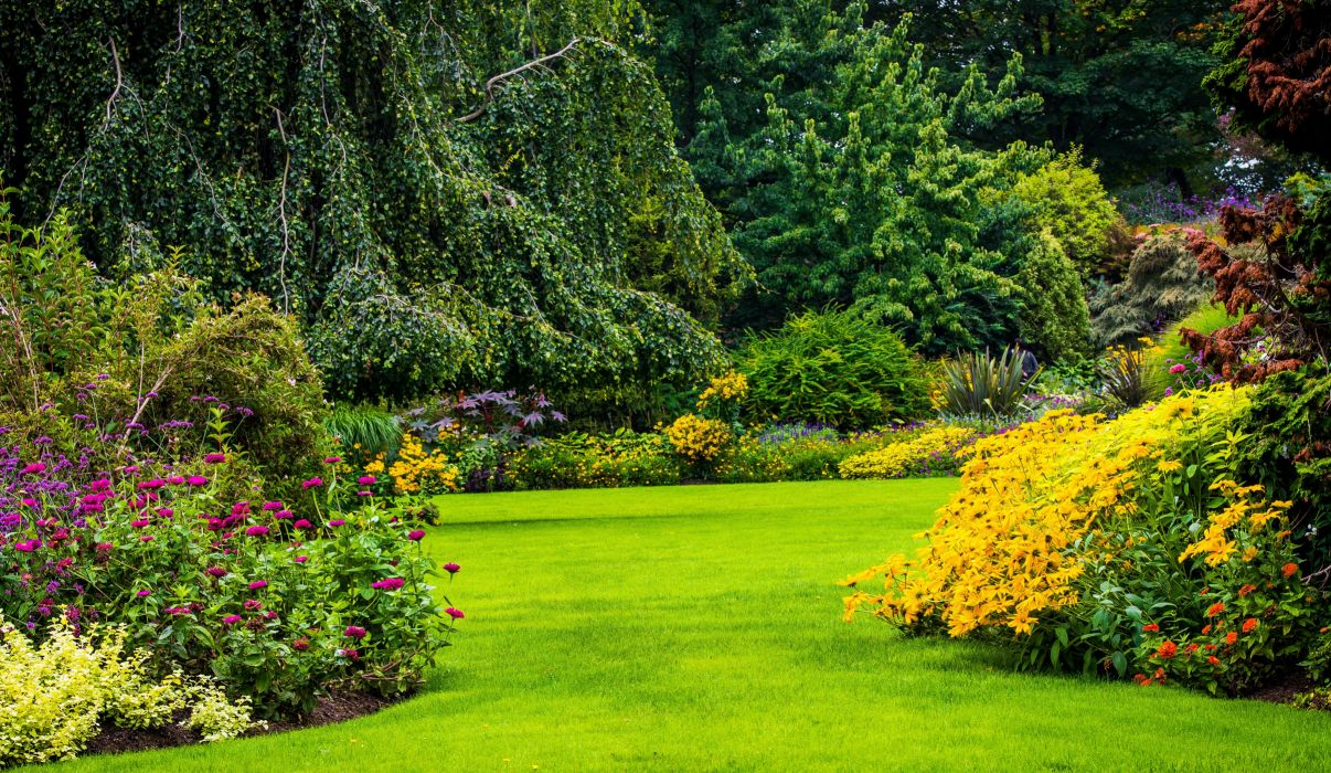 Canada Gardens Vancouver Shrubs Trees Lawn Queen Elizabeth Garden Nature wallpaper