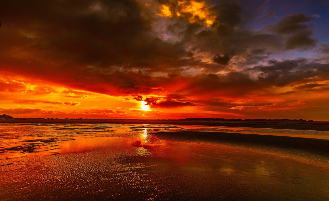 Sunrises and sunsets Clouds Sun Nature wallpaper