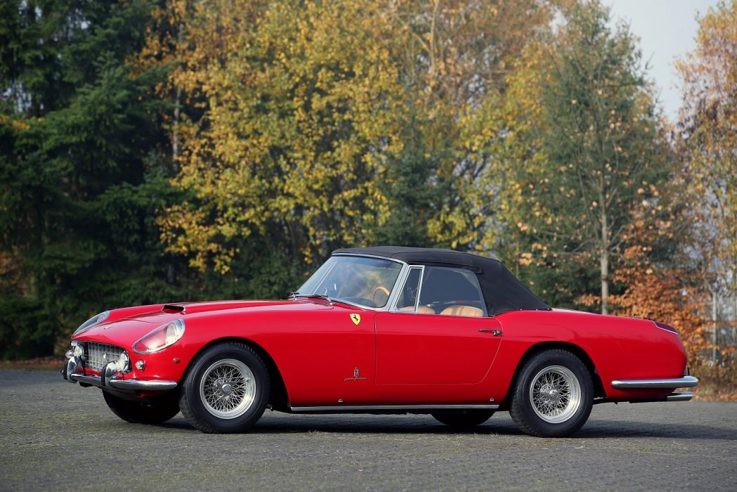 Ferrari 250 GT Cabriolet (Series II) red 1960 classic wallpaper