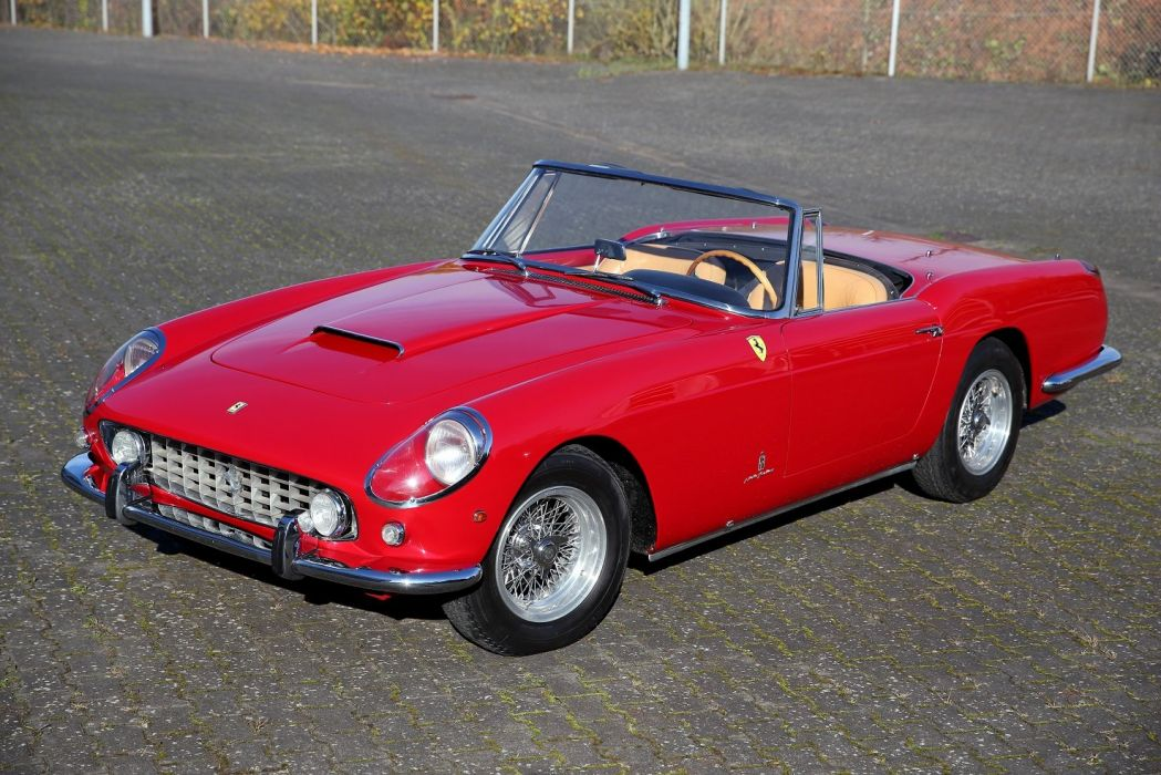 Ferrari 250 GT Cabriolet (Series II) red 1960 classic wallpaper