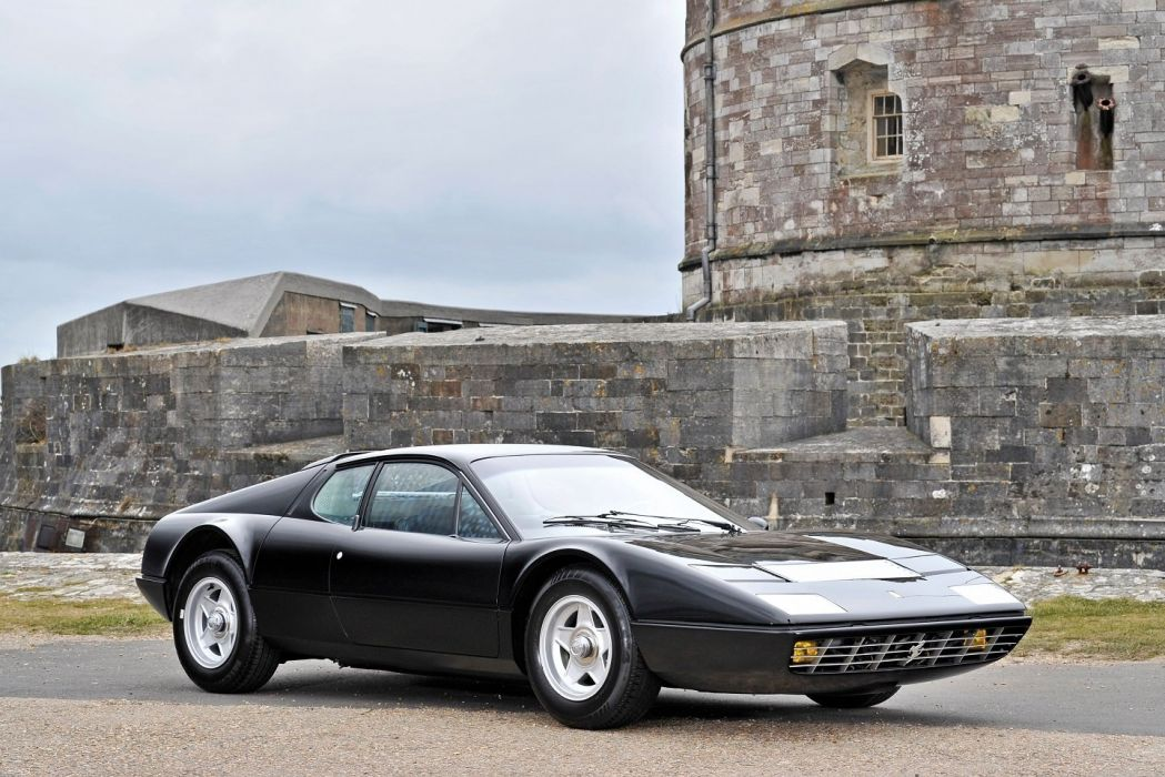 Ferrari 365 GT4 Berlinetta Boxer black cars 1973 wallpaper