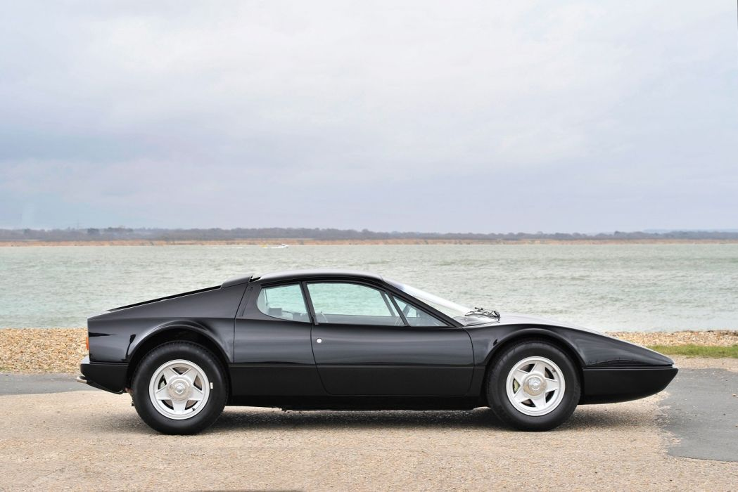 Ferrari 365 GT4 Berlinetta Boxer black cars 1973 wallpaper