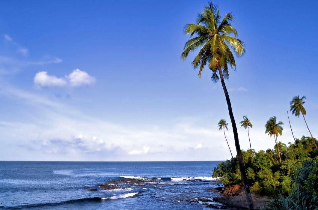 India Sky Sea Palma Corbyns Cove Port Blair South Andaman Island Andaman Sea Nature wallpaper